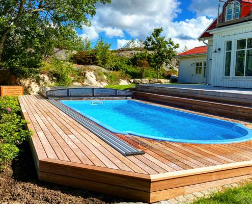 Pool från Falk´s trädgårdsmiljö i Tanumshede